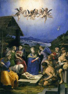 Bronzino - Adoration of the shepherds Agnolo di Cosimo di Mariano, conosciuto come il BRONZINO (Monticelli di Firenze, 17 novembre 1503 – Firenze, 23 novembre 1572)   #TuscanyAgriturismoGiratola
