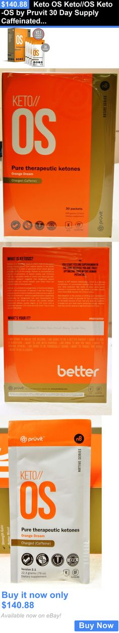 Other Sports Supplements: Keto Os Keto//Os Keto-Os By Pruvit 30 Day Supply Caffeinated Supplement Orange BUY IT NOW ONLY: $140.88