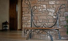 Hand Made Entry Bench by Red Iron Studio | CustomMade.com