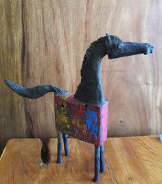 Asian Art Imports' Chin Hand Made Wood Horse