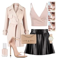"""""""Go out outfit"""" by ellakatykat ❤ liked on Polyvore featuring Boohoo, Miss Selfridge, Essie, Chanel, Stuart Weitzman and Nine West"""