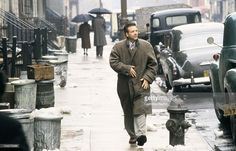 Mickey Rourke on the set of the movie 'Angel heart' by Alan Parker on March 01, 1987.
