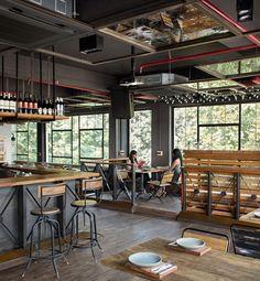 Bar y cafetería Backyard, en Green Park
