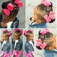 """60 Unbelievable cornrow styles for girls that'll make you ask """"But How""""? Cornrow Styles For Girls, Little Girl Braid Styles, Kid Braid Styles, Little Girl Braids, Black Girl Braids, Braids For Kids, Girls Braids, Kid Braids, Tree Braids"""