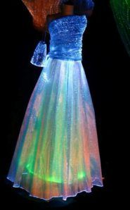 Wedding dresses made at LumiNight USA are very unique and are custom made by one of our designers either in Italy or Seattle, Washington. The cost of fiber optics are very expensive, so an entire wedding dress made from LumiNight USA Light Up Dresses, Light Up Clothes, Pretty Dresses, Beautiful Dresses, Quinceanera Dresses, Prom Dresses, Formal Dresses, Wedding Dresses, Dress Prom