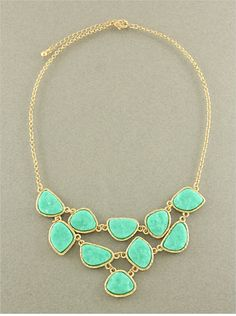 P.S. I Love You More Boutique | Mint Melanie Necklace | www.psiloveyoumoreboutique.com