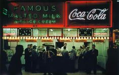 Ruth Orkin, Famous Malted Milk, NYC,c. 1950
