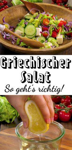 Herrlich frisch und würzig! Griechischer #Salat schmeckt uns jetzt am besten - so geht das Original! #Griechenland