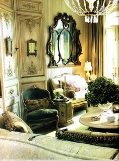"""""""For the French, design is about layering one's personal past, not about perfection or a 'decorated' look."""" - Betty Lou Phillips, The Allure of French and Italian Decor French Interior, French Decor, French Country Decorating, French Chic, French Style, Interior Decorating, Interior Design, Interior Ideas, French Furniture"""