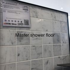 Shower Floor, Tile Floor, Master Shower, Dove Grey, Carrara, Kings Lane, Flooring, Crafts, Manualidades