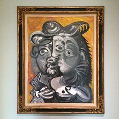 """Did you know that Pablo Picasso's full name has 23 words?  His full name is Pablo Diego José Francisco de Paula Juan Nepomuceno María de los Remedios Cipriano de la Santísima Trinidad Martyr Patricio Clito Ruíz y Picasso. He was named after many saints and relatives. """"Picasso"""" is not from his father but his mother, Maria Picasso y Lopez.  """"Couple"""" is one of the highly sexualised works he made at the age of 89.  On view at the Museum Boijmans Van Beuningen in Rotterdam, The Netherlands."""
