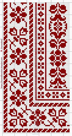 Cross Stitch Borders, Cross Stitch Samplers, Cross Stitch Patterns, Crochet Patterns Amigurumi, Crochet Hooks, Crochet Lace, Filet Crochet Charts, Fillet Crochet, Embroidery Letters