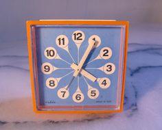 Vintage Alarm Clock 1970s, Made in DDR GDR (former East Germany), Ruhla brand.