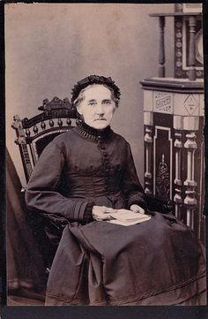 Connecticut Widow, Albumen Cabinet Card, Circa 1889 | Flickr - Photo Sharing!
