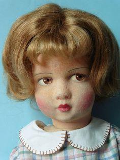 Poupée ancienne: jolie Raynal tête feutre 46 cm. 2