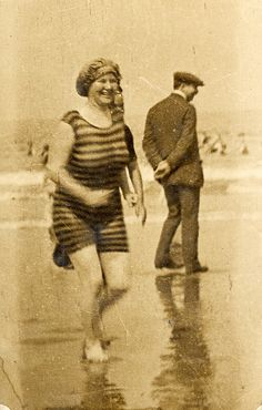 vintage swim suit...so glad that we moved past this style...
