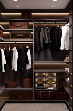 36 Inspiring Elegant Closet Design Ideas Best Furniture - Deciding what to wear is hard enough but it becomes even more difficult when you cannot easily see the clothes you own. Most closets were not designed. Wardrobe Room, Wardrobe Design Bedroom, Walk In Wardrobe, Closet Bedroom, Wardrobe Door Designs, Closet Designs, Walk In Closet Design, Dressing Room Design, Dressing Rooms