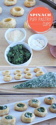 Spinach Puff Pastry Cups