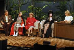Elvira Mistress of the Dark and Movie Macabre hostess guests along with Vincent Price and Howie Mandel on the Tonight Show with host David Brenner taking ove. Doc Severinsen, David Brenner, Howie Mandel, Phyllis Diller, Cassandra Peterson, Johnny Carson, Vincent Price, Tonight Show, Joan Rivers