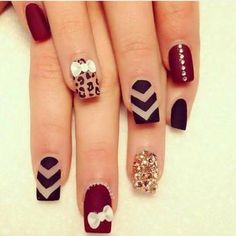 Ideas de uñas hermosas en mate