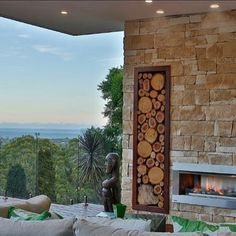 Amber Tiles Kellyville: Dry stack sandstone cladding feature wall 💯 Australian made and manufactured in Sydney. Fireplace Built Ins, Cozy Fireplace, Fireplace Design, Sandstone Fireplace, Sandstone Wall, Sandstone Cladding, Onyx Tile, Home Panel, Fireplace Pictures