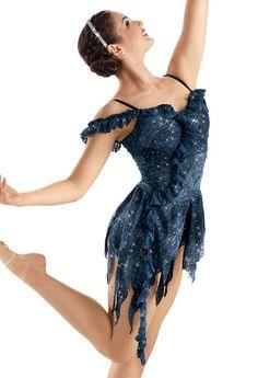 Weissman™   Sequin Lace Ruffle Cascade Dress