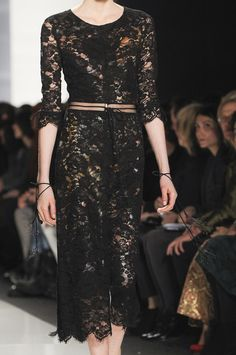 Chado Ralph Rucci Fall 2013 - Details(lace dress with print underneath)
