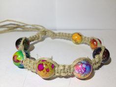 Trippy Beaded Hemp Bracelet by NikosHemp on Etsy https://www.etsy.com/listing/128749105/trippy-beaded-hemp-bracelet