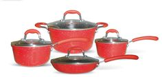 Gourmet Chef 8-Piece Non-Stick Ceramic Cookware Set ** Want additional info? Click on the image.