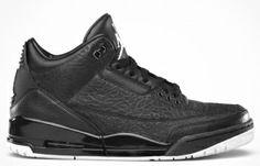 Buy 315767-001 Air Jordan Retro 3 Black Flip ( Black / Metallic Silver ) Cheap $102.99   http://www.redsunkicks.com