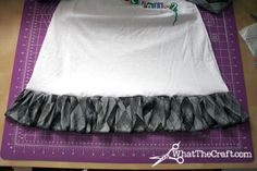 Tutorial on adding a ruffle to a plain skirt or dress.  (or maybe a T-shirt)  This came from www.whatthecraft.com where there are TONS of tutorials and the corresponding retail site (www.smarmyclothes.com) has lots of punk ruffles.  (See a few on my Clothing board)