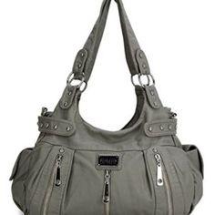 fbaaed30926 Scarleton 3 Front Zipper Washed Shoulder Bag