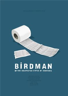 Birdman (or the unexpected virtue of ignorance) Minimalist #Posters