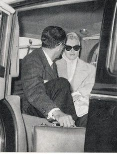 """Marilyn Monroe accompanied her husband Arthur Miller to London Airport, on August 27th 1956. Miller returned to the United States, to be at the bedside of his sick daughter. Marilyn remained in the England to continue filming """"The Prince and The Showgirl""""."""