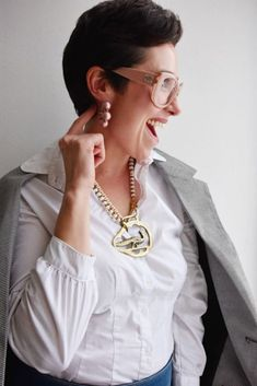 Nicole Chamberlain | Founder Green Scenery, My Routine, Jewelry Designer, Design Show, Statement Jewelry, Boutique Clothing, Neiman Marcus, Things That Bounce, Ruffle Blouse