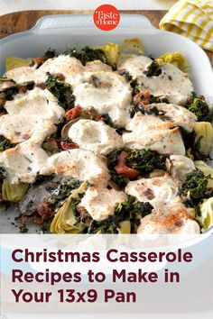 25 Christmas Casserole Recipes to Make in Your 13x9 Pan Christmas Casserole, Taste Of Home, Christmas Recipes, Casserole Recipes, Potato Salad, Food To Make, Meat, Chicken, Ethnic Recipes