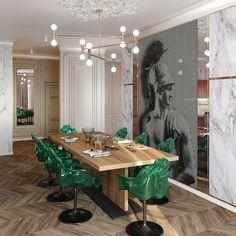 Penthouse modern de lux - Creativ-Interior Interior Projects, Decor, Furniture, Interior, Table Decorations, Modern, Home Decor, Room, Penthouse