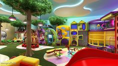 Home Decorators Collection Lighting Kids Play Area Indoor, Indoor Playroom, Kids Play Spaces, Kids Indoor Playground, Kid Playroom, Daycare Design, Kids Room Design, Playroom Design, Piscina Playground
