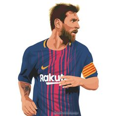 "15 Likes, 1 Comments - Dodik La Pulga (@dodiklapulga) on Instagram: ""@leomessi #fcbarcelona #vectorart #art"""
