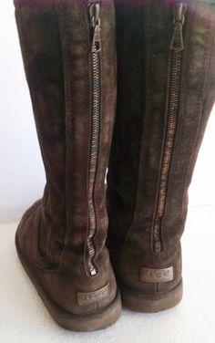 UGG Australia Knightsbridge 5119 Tall Boots-Brown Suede Ladies US Size 11 - LOOK