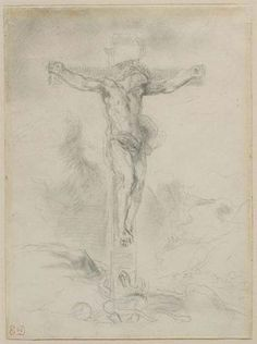 Cristo en la cruz, 1853-1856 - Eugène Delacroix