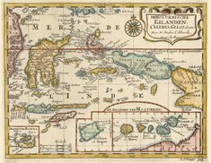 1683 copperplate map by Nicolas Sanson. Princeton Historic Maps Collection
