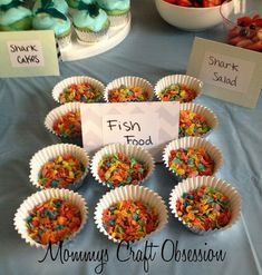 Mommy's Obsessions: Little Mister's DIY Shark Birthday Party! 4th Birthday Parties, 2nd Birthday, Birthday Ideas, Moana Birthday, Shark Week, Gone Fishing Party, Little Mermaid Parties, Mermaid Birthday, Baby Shower