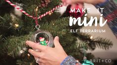 Make a mini elf terrarium Christmas tree ornament with this holiday DIY video tutorial.