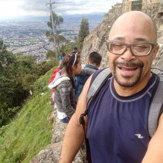 Bogotá Colombia Happy Father's Day everyone! A pic of my pops after successfully scaling Monserrate.