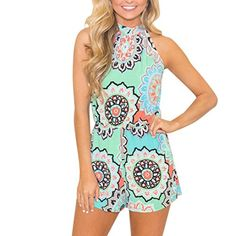 079dce5efc1 Women Sexy Print Playsuit Bodycon Party Jumpsuit Romper Trousers Clubwear Rompers  Women