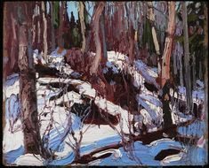 Winter Thaw in the Woods by Tom Thomson, one of the paintings of the Canadian wilds on show at the Dulwich Picture Gallery