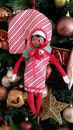 The Elf on the Shelf ~Elf Candy Cane Costume by ElfEnvy on Etsy