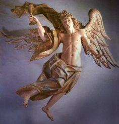 Arts: Anjo com o calice da Paixao, na Via Sacra de Congonhas do Campo - Aleijadinho - Minas Gerais -