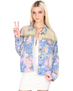 FLORAL PRINT JACKET at Shopjeen.com